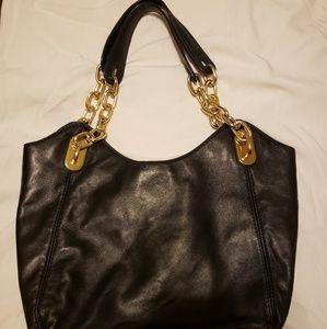 Black soft leather purse